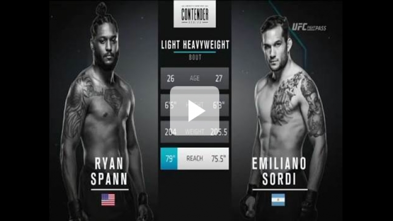 Ryan Spann vs Emiliano Sordi Full Fight DWTNCS Season 2 Week 2