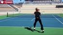 Steffi Graf Tennis Footwork | Tennis Movement - Women's Tennis WTA