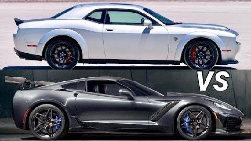 2019 Corvette ZR1 VS Dodge Challenger SRT Hellcat Redeye