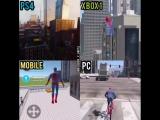 Человек-Паук на разных платформах