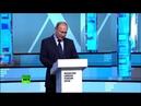 Владимир Путин принимает участие в урбанистическом форуме в московском парке «Зарядье»