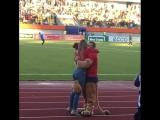 Предложение руки и сердца на Тюменском стадионе «Геолог»