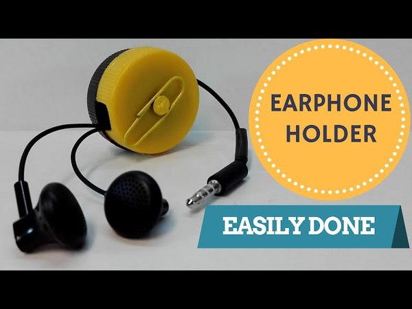How to make an EARPHONE HOLDER (from two bottle caps)