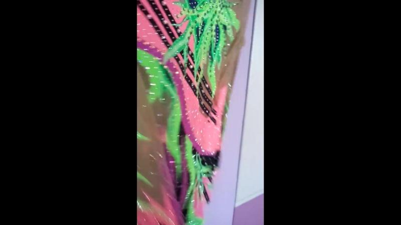 01.26_Купальник в цветовой гамме ЗЕЛЕНЫЙ-ЧЕРНЫЙ-РОЗОВЫЙ на рост 134 см.