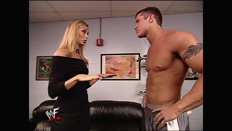 WWF.SmackDown.2002.04.25 - Backstage Stacy Keibler Randy Orton Vince McMahon