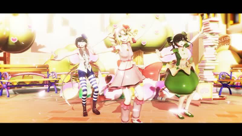 【MMD/Black Butler/Shugo Chara!】TWICE - Dance The Night Away (トレースモーション配布) ||Test models||