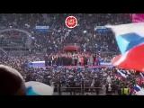 Гимн России на митинге в Лужниках. Солирует Владимир Путин