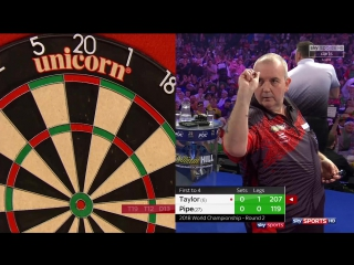 Phil Taylor vs Justin Pipe (PDC World Darts Championship 2018 / Round 2)