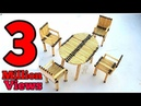 Match stick art how to make chair and table by useing match stick match stick dining table