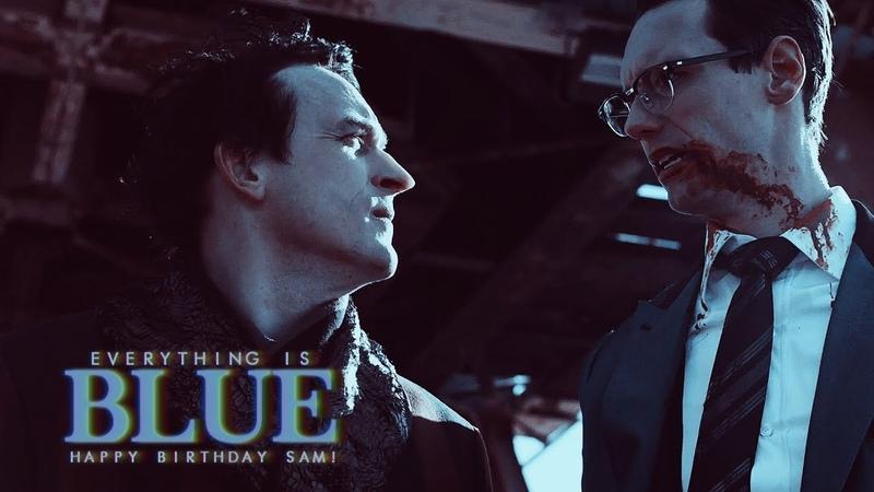 Everything is blue.「batjokes nygmobblepot」(HDB SAM!)