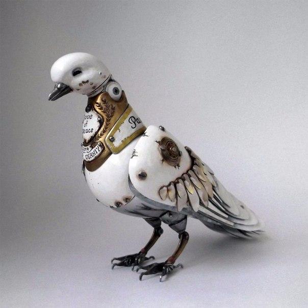 Стимпанк-скульптуры животных и насекомых