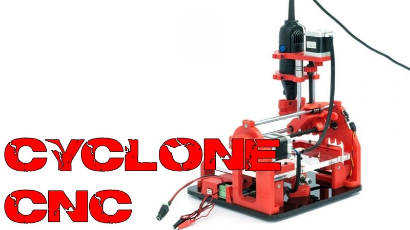 Cyclones CNC mill update spindle dremel
