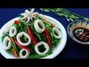 Món Ăn Ngon - MỰC XÀO BÔNG HẸ giòn xanh ngon ngọt bổ dưỡng