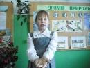 """Участница акции """"Живая вода"""" - Дергалева Анна, 9 лет, ученица Теребаевской школы Никольского района."""