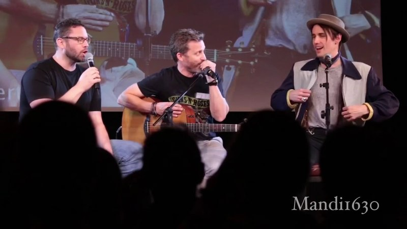 Reeve Carney, Rob Benedict, and Jason Manns at JIB9