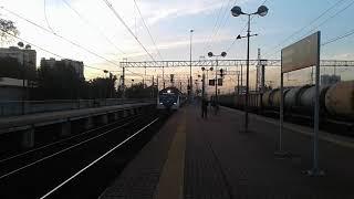 ЭД4М 0482 ЦППК экспресс Москва Казанская Шатура проезжает платформу Плющево