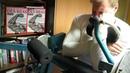 Michael Gundill changes his curling technics on a Nautilus Biceps machine