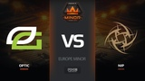 OpTic vs NiP, map 2 overpass, Europe Minor FACEIT Major 2018
