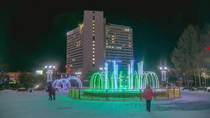 Ночной Мурманск, гиперлапс