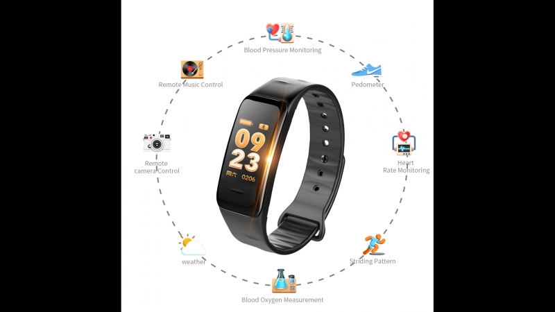 2018 new smart wristband C1S color screen smart band