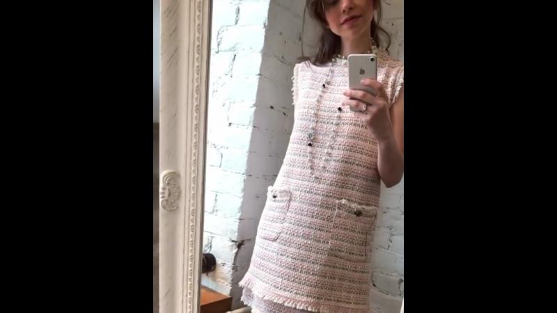 Твидовое платье (хлопок). Италия 🇮🇹 7900₽. Размер 42-46.  Колье, 4200₽