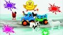 Синий Трактор - учим животных Учим Звуки Животных ФЕРМА - Едет трактор