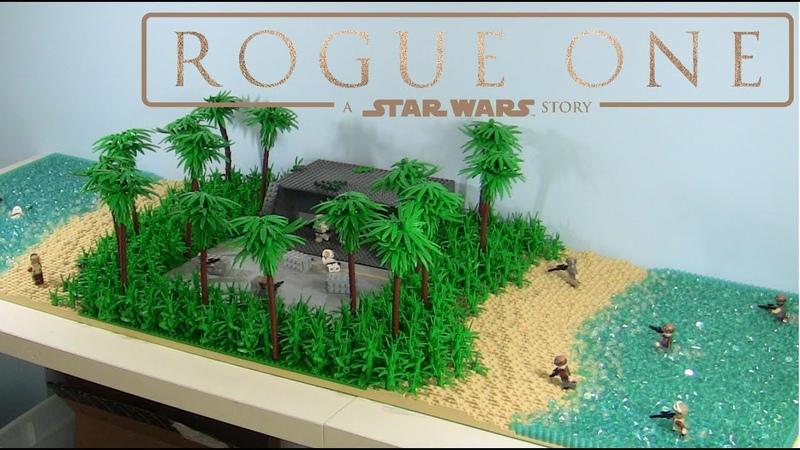 HUGE Lego Star Wars Battle on Scarif MOC