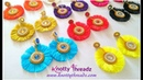 How to Make Beautiful Silk Thread Tassel Earrings with Quilled Studs | DIY |