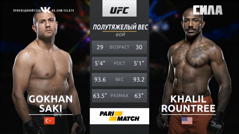 UFC 226 Gokhan Saki VS Khalil Rountree Jr