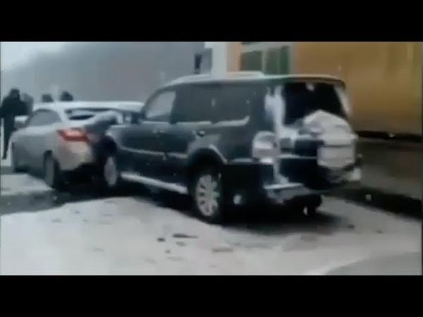 Ростов заносы массовое дтп трасса м-4 Дон 12 11 2018