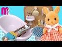 Ванная Комната от Сильвания Фэмили Обзор Country Bathroom Set Sylvanian Families