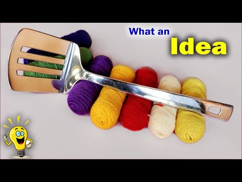 WOW Best Idea Out of Turner and Thread || DIY Wall hanging Making at Home 2018 || Handmade Craft