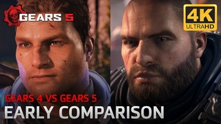 Gears 5 VS Gears 4 - Early Video Comparison E3 2018 (Extra Scenes from GOW 2 and 3)