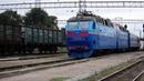 ЧС7-173 следует по ст.Запорожье-II с поездом №72/73 сообщением Кривой Рог-Москва.