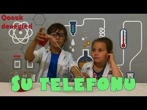 Çocuk deneyleri. Su telefonu