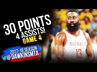 James Harden Full Highlights 2018 WCF Game 4 Warriors vs Houston Rockets - 30 Pts! | FreeDawkins