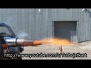 Insane jet powered Mini afterburner test