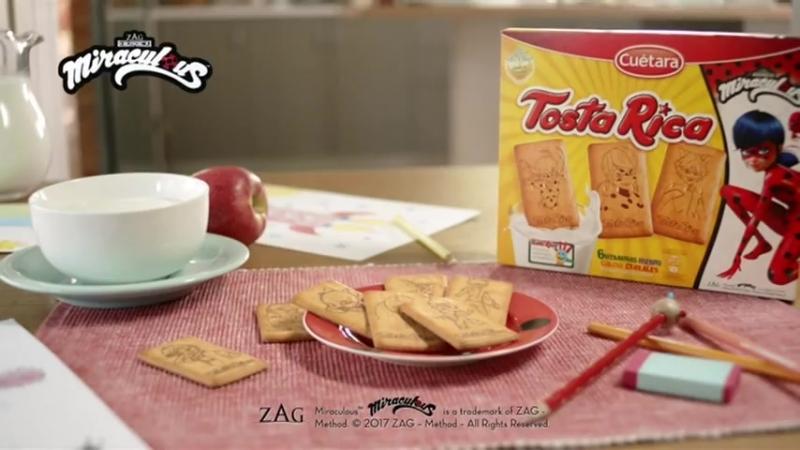Печенье Tosta Rica с рекламой Леди Баг