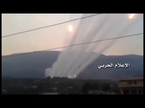 Russian Rockets Launchers Raining Down on Islamist positions in Sahel al-Ghab (Syria)
