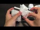 Бантики в школу Нежные из лент МК Канзаши Алена Хорошилова tutorial diy kanzashi ribbon bows