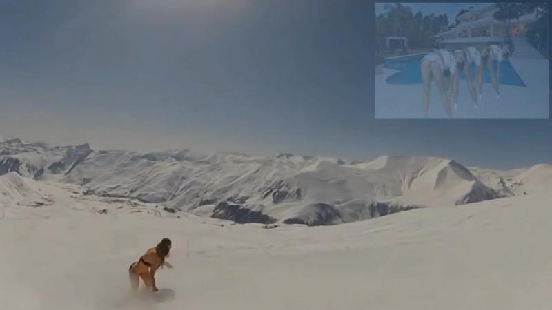 Ты пришел ко мне на лыжах ! Весело и прикольно !