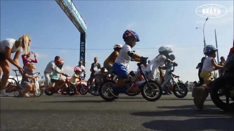 Беговелопарад по пр. Победителей в рамках Гран-при Минска по велогонкам на шоссе