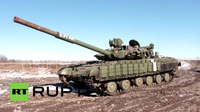 Ukraine_ See TANKS abandoned in Debaltsevo by fleeing Ukrainian soldiers