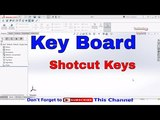 How to Assign Keyboard Short Cut keys and Mouse Gestures in SolidWorks