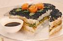 Вкусное и нарядное закусочное блюдо к праздничному столу «Суши-Торт»