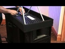 Speakers cable box table and cart all in one easy roll in roll out
