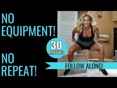 30 Minute Non Repeat No Equipment Cardio HIIT