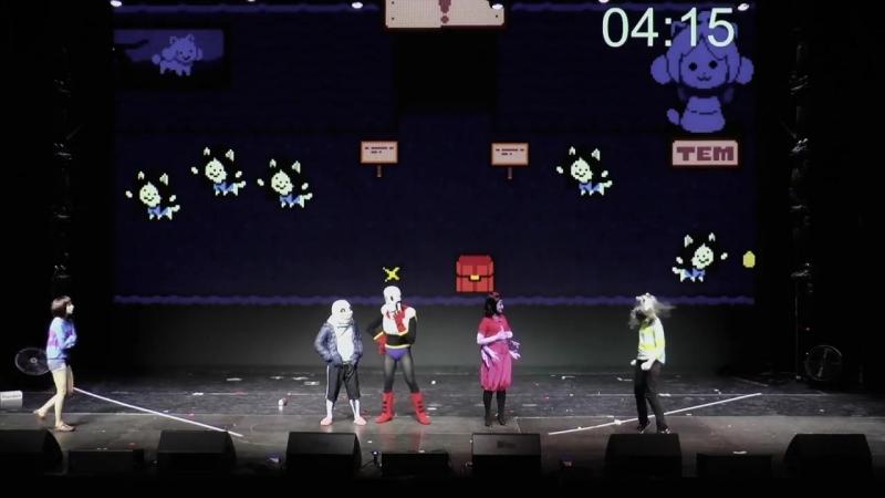 Voronezh 2016 UNDERTALE cosplay Speedrun русская озвучка eng subtitles 日本語サブタイトルが使用できてある mp4