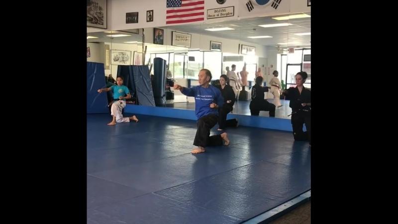 Workout with Master Jun Chong.