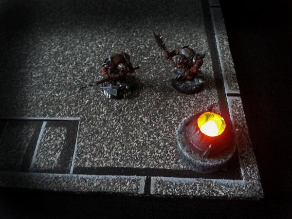 Alternate tea light brazier for DD tiles (The DMs Craft, Short Tip 45)